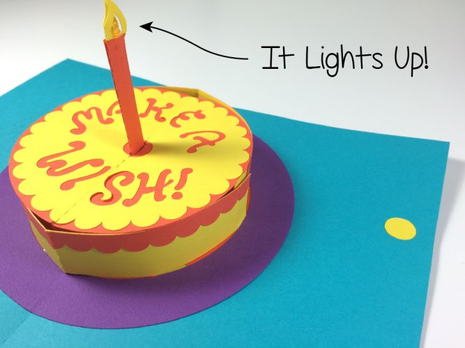 Maker Faire Circuit Sentiments Light Up Pop Up Greeting Card Kits