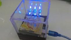 3x3x3 blue led cube