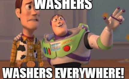 Washers, Washers Everywhere.