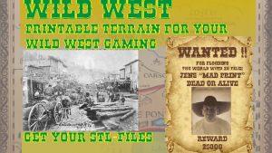 Wild West Printable Terrain