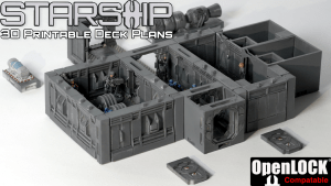 Starship - 3d printable OpenLOCK-compatible Deck Plans