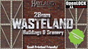 28mm Modular Wasteland Buildings and Scenery