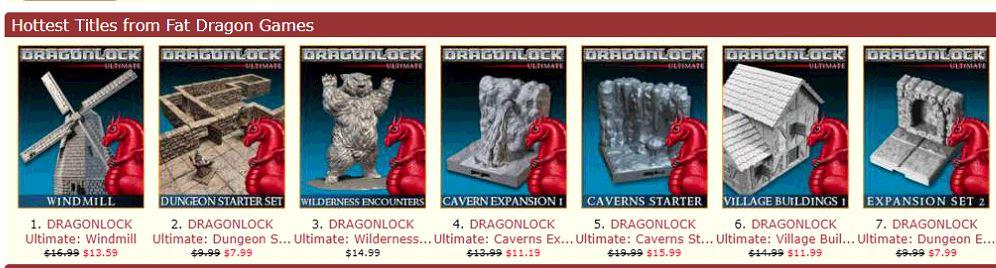 Fat Dragon Games: 3D Printable Terrain is 20-50% off.