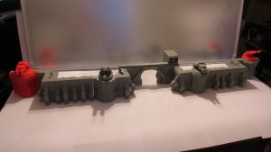 3D printed defence wall terrain scenery