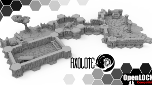 Axolote Hex 3d hex dungeons