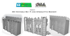 3D printable Sci- Fi and Apocalyptic Scenery