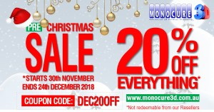 Monocure Pre Christmas Sale