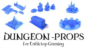 3D Printable Dungeon Prop Models Tabletop Gaming 28/32mm