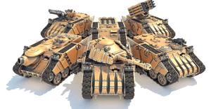 MAV3RICK - Modular 3D Printable Tank Kit in 28mm Scale