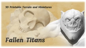 The Fallen Titans Terrain and Miniatures