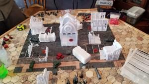 Kill Team Table with Warlayer Terrain