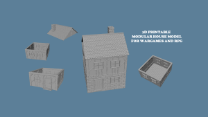 3D PRINTABLE STL OBJ BUILDINGS FOR WARGAMES AND RPG