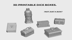 3d Printable Dice Boxes