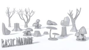 Basic Nature 3D printing files for Wargaming