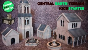 Central Earth 3D Printable Terrain