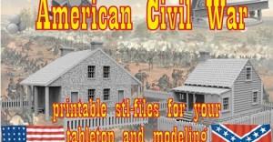 American Civil War printable terrain tabletop and modeling