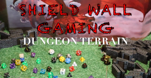Shield Wall Gaming Terrain: Dungeons Set - STL