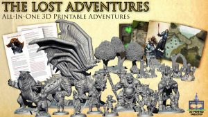 The Lost Adventures: All-In-One 3D Printable Adventures