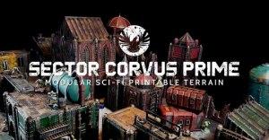Sector Corvus Prime Modular 3D Printable Sci-fi Terrain