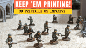 Alloy Models: 3D Printable WWII US Miniatures
