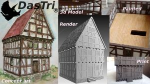 Balkenheim - 100 printable medieval houses (STL files)