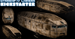 Starship IV Chimera - Modular 3D Printable 28mm Spaceship