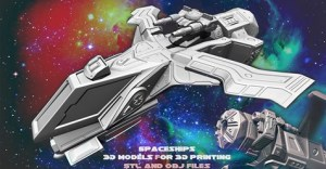 Spaceships-3D models for 3D printing