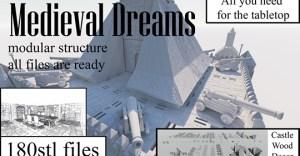 Medieval Dreams - set 3d model