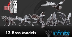 Boss Mixed Monsters 3d Printable War-Games