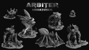 Arbiter Miniatures - Supportless 3d printable monsters