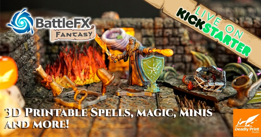 BattleFx Fantasy: 3D Printable Spells, Magic, props and more