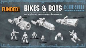 BIKES and BOTS - 3D Printable Tabletop Models