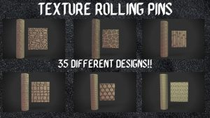 Texture rolling pins for wargames