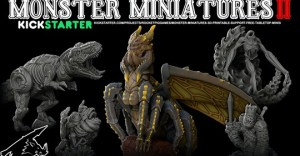 Monster Miniatures II: Support-Free Tabletop Miniatures