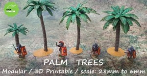 3D Printable Palm Trees
