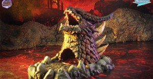 Dragon-head Dice Tower in 3D STL file