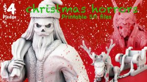 Christmas STL files for miniatures 3d print tabletop games