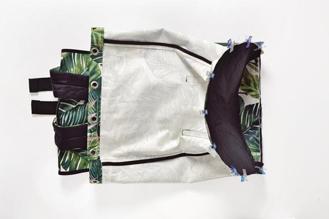 Backpack selber nähen step 23