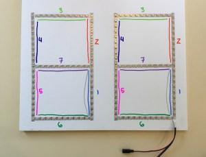WS2812B strip cut into seven segment displays