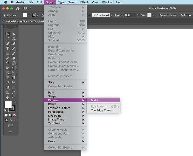 object > pattern > make in illustrator