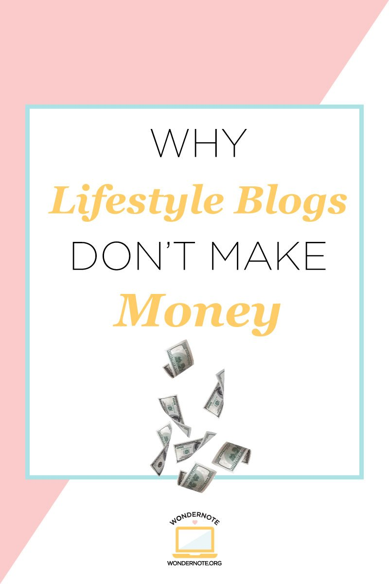 why your lifestyle blog isn't making money