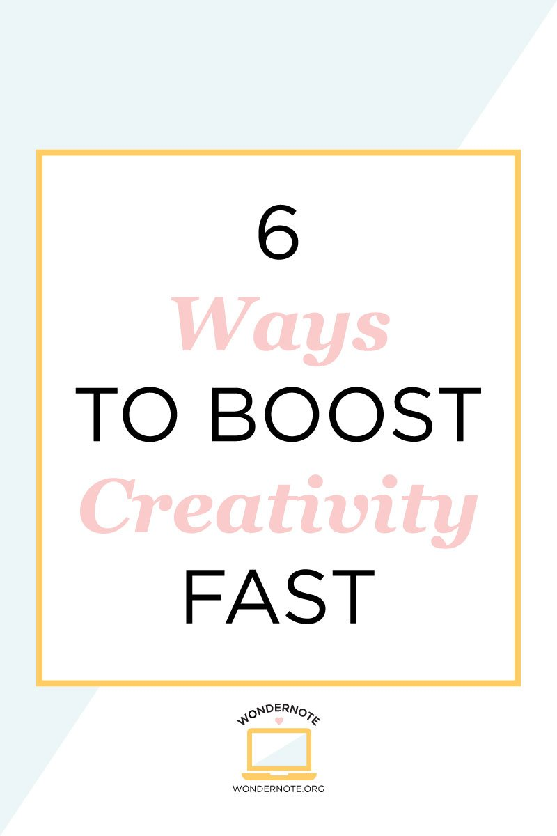 easy ways to boost creativity fast