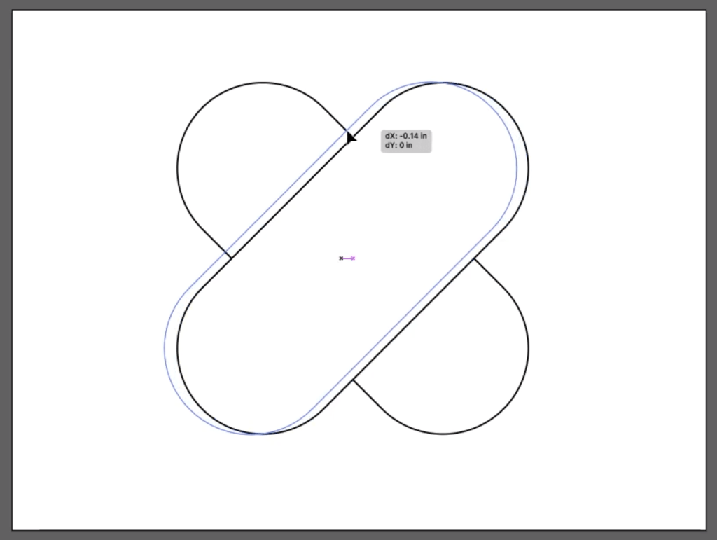 Make a Heart: Adjust the Placement of overlapping V in Illustrator