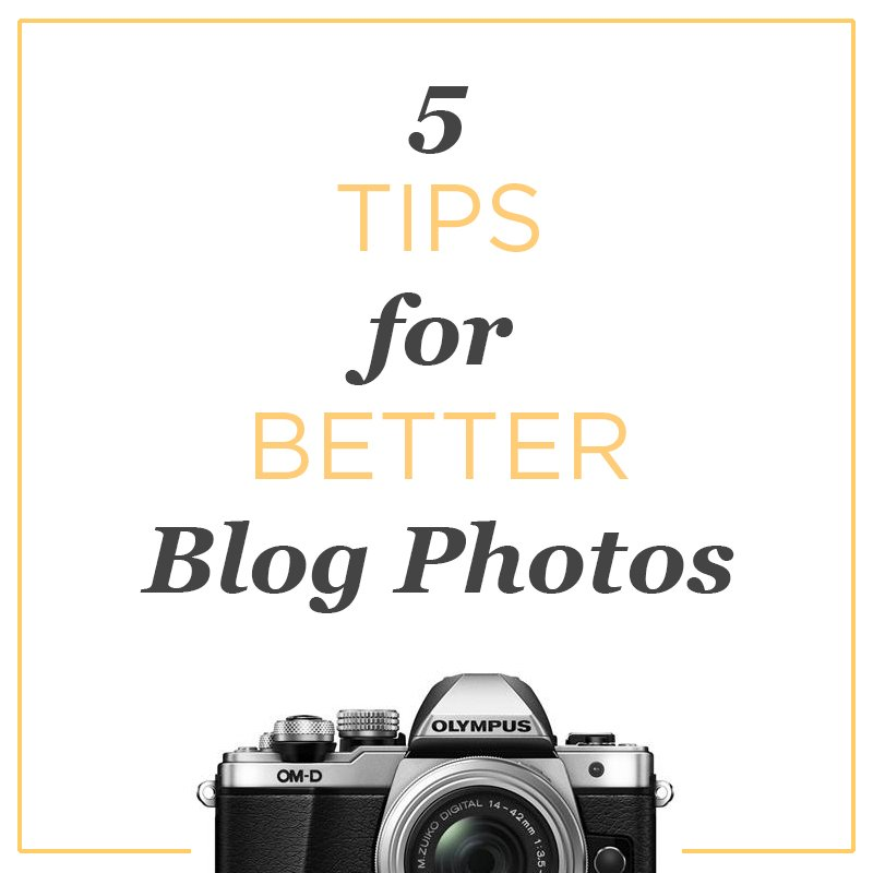 5 photography tips to take better photos for your blog