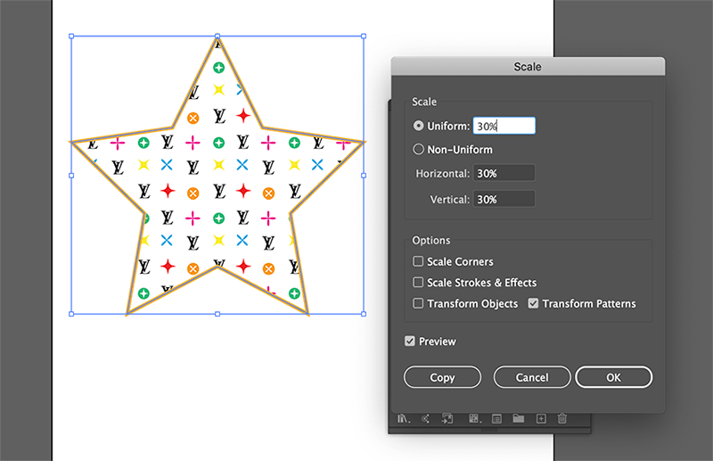 scale patterns in illustrator