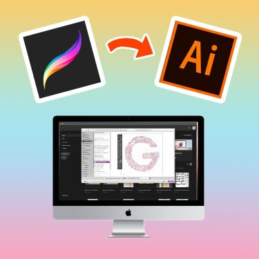 convert procreate to illustrator