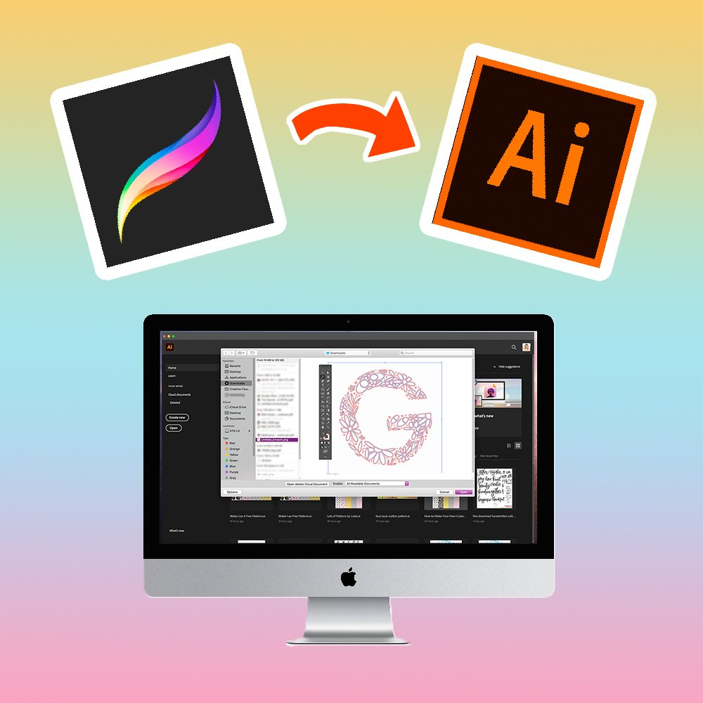 Convert Procreate artwork to vector in illustrator