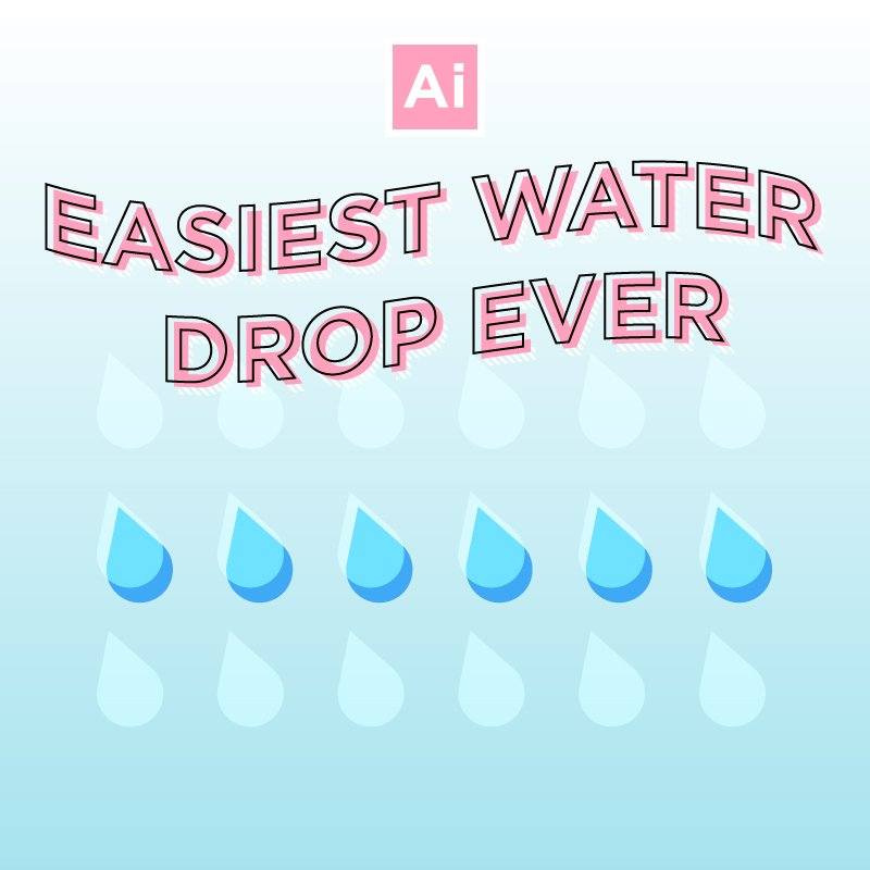 Easy Fast Waterdrop in Illustrator Design Tutorial
