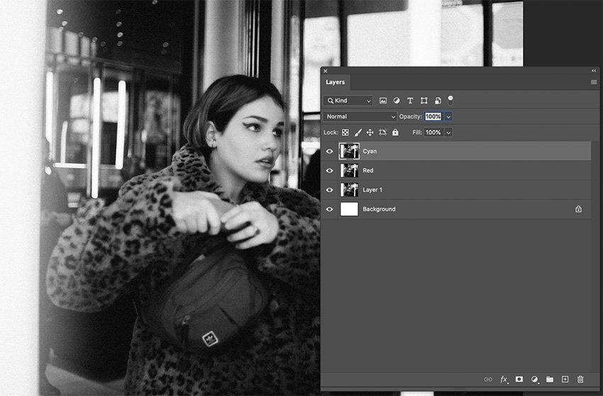 Step 2 RGB Split Photo Effect Photoshop Tutorial