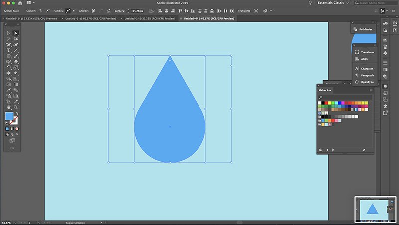 Fast Easy Waterdrop Illustrator Step 3